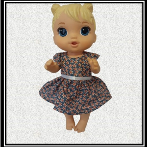 12 inch Baby Alive Doll Blue Floral Dress