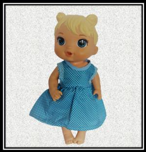 12 inch Baby Alive Blue Spotty Dress