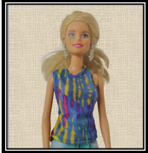 Barbie Abstract Top