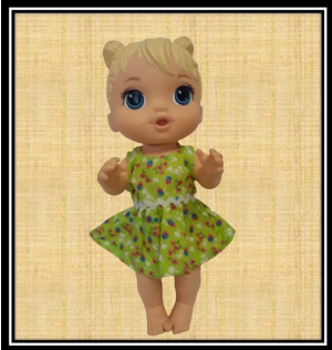 Baby Alive 12 Green Frilly Dress