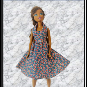 Barbie Blue Floral Dress