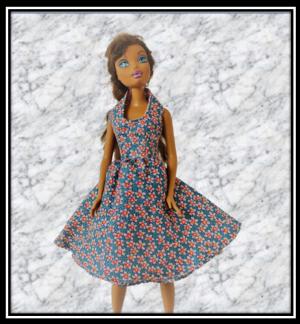 Barbie Blue Floral Dress