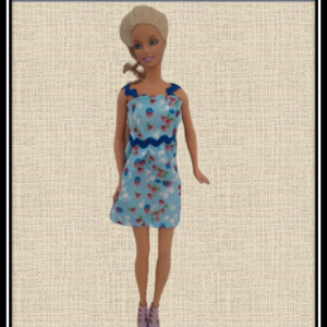Barbie Blue Floral Summer Dress