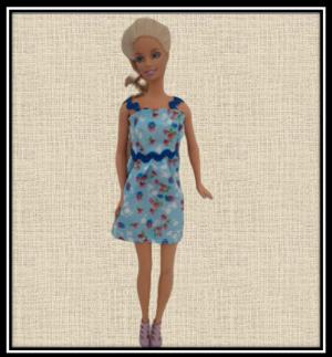 Barbie Blue Floral Summer Dress