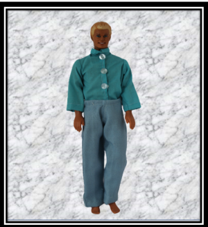 Ken Light Blue Trousers and Tourquoise Shirt