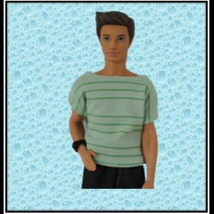 Ken Striped Green Tshirt