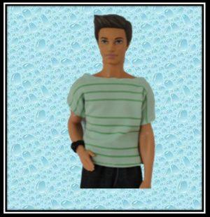 Ken Striped Green Tshirt