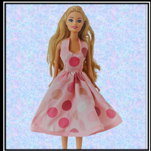 Barbie Pink Spot Halter Dress
