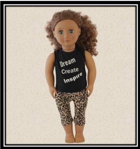 Our Generation Leopard Tights & Dream Create Inspire Top