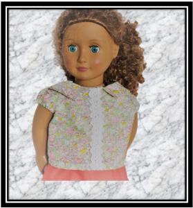 Our Generation Pink Blouse with Lace Detail