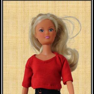 Barbie Red Crop Top