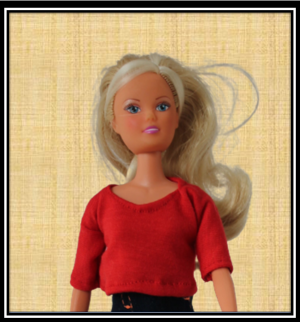 Barbie Red Crop Top