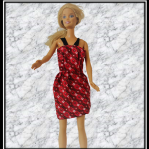 Barbie Patterned Red Summer Dress
