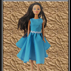 barbie Blue Spotty Dress