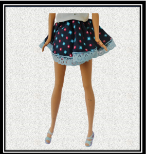 barbie Blue starry Skirt