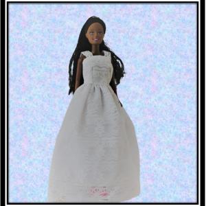 Barbie White lace narrow wedding dress