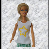 Barbie White Top with Yellow Star